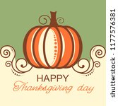 happy thanksgiving card with... | Shutterstock .eps vector #1177576381