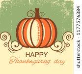 happy thanksgiving background... | Shutterstock .eps vector #1177576384