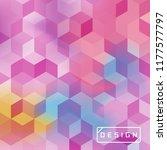 vector bright geometric... | Shutterstock .eps vector #1177577797