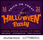 halloween party poster with... | Shutterstock .eps vector #1177580521