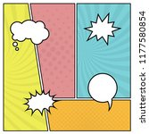 colorful comic book page... | Shutterstock .eps vector #1177580854