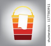 bucket and a rag sign. vector.... | Shutterstock .eps vector #1177583911