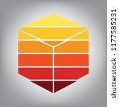cube sign illustration. vector. ...   Shutterstock .eps vector #1177585231