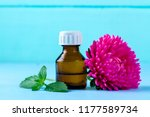 a bottle of essential oil and... | Shutterstock . vector #1177589734