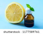 a bottle of essential oil and... | Shutterstock . vector #1177589761