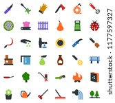 colored vector icon set  ... | Shutterstock .eps vector #1177597327