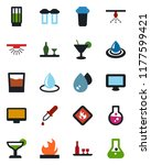 color and black flat icon set   ... | Shutterstock .eps vector #1177599421