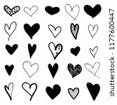 hearts hand drawn icons set... | Shutterstock .eps vector #1177600447