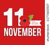 the remembrance poppy   poppy... | Shutterstock .eps vector #1177603507