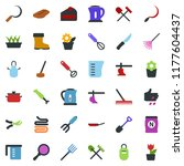 colored vector icon set  ... | Shutterstock .eps vector #1177604437