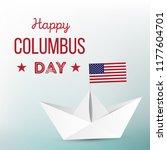 happy columbus day. vector... | Shutterstock .eps vector #1177604701