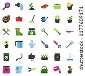 colored vector icon set  ... | Shutterstock .eps vector #1177609171