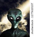 portrait of an extraterrestrial ...   Shutterstock . vector #1177610137