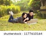 attractive asian couple...   Shutterstock . vector #1177610164