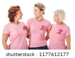 women with pink ribbons... | Shutterstock . vector #1177612177