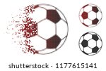 football ball icon in sparkle ...   Shutterstock .eps vector #1177615141