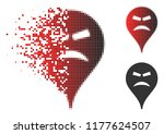 furious smile map marker icon... | Shutterstock .eps vector #1177624507