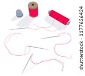 needle  spool of thread and... | Shutterstock .eps vector #1177626424