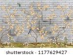 3d wallpaper design with little ... | Shutterstock . vector #1177629427