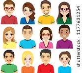 collection of twelve different...   Shutterstock .eps vector #1177631254