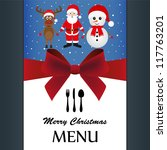 special christmas menu | Shutterstock . vector #117763201