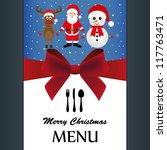 special christmas menu | Shutterstock .eps vector #117763471