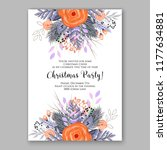 wedding card or invitation with ... | Shutterstock .eps vector #1177634881
