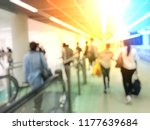 blurred image of people and... | Shutterstock . vector #1177639684