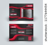 brochure design. creative tri... | Shutterstock .eps vector #1177644454