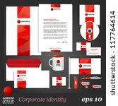 white corporate identity... | Shutterstock .eps vector #117764614