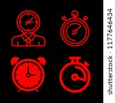 4 watch icons with timer or... | Shutterstock .eps vector #1177646434