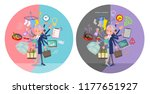 a set of old women who perform... | Shutterstock .eps vector #1177651927