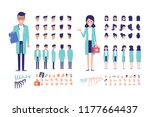 front  side  back view... | Shutterstock .eps vector #1177664437