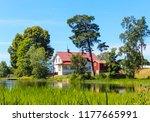 swedish lake house   Shutterstock . vector #1177665991