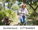 children friends riding bikes... | Shutterstock . vector #1177666864