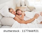 mother and daughter child... | Shutterstock . vector #1177666921