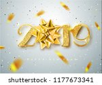 2019 happy new year. gold... | Shutterstock .eps vector #1177673341