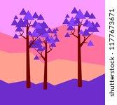 vector illustratiom geometric... | Shutterstock .eps vector #1177673671