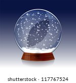 transparent snow globe   Shutterstock .eps vector #117767524