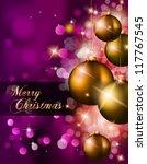 elegant classic christmas... | Shutterstock .eps vector #117767545