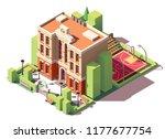 vector isometric small school... | Shutterstock .eps vector #1177677754