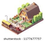 vector isometric kindergarten... | Shutterstock .eps vector #1177677757