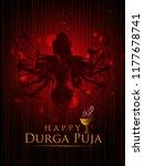 happu durga puja festival india ... | Shutterstock .eps vector #1177678741