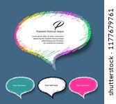 vector  colorful speech...