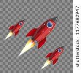 rockets  icon. vector... | Shutterstock .eps vector #1177682947