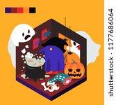 hallowen illustration vector | Shutterstock .eps vector #1177686064