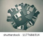 a floppy disk also called a... | Shutterstock . vector #1177686514