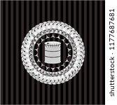 barrel icon inside silver shiny ...   Shutterstock .eps vector #1177687681