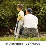 grandpa and grandson enjoying... | Shutterstock . vector #11776903