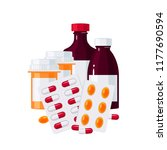 medicine vector concept.... | Shutterstock .eps vector #1177690594